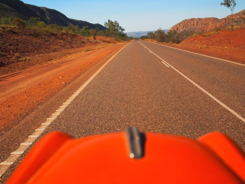Cruising along the highway to Kununurra. Nan and Pop sing at the top of their lungs!!
